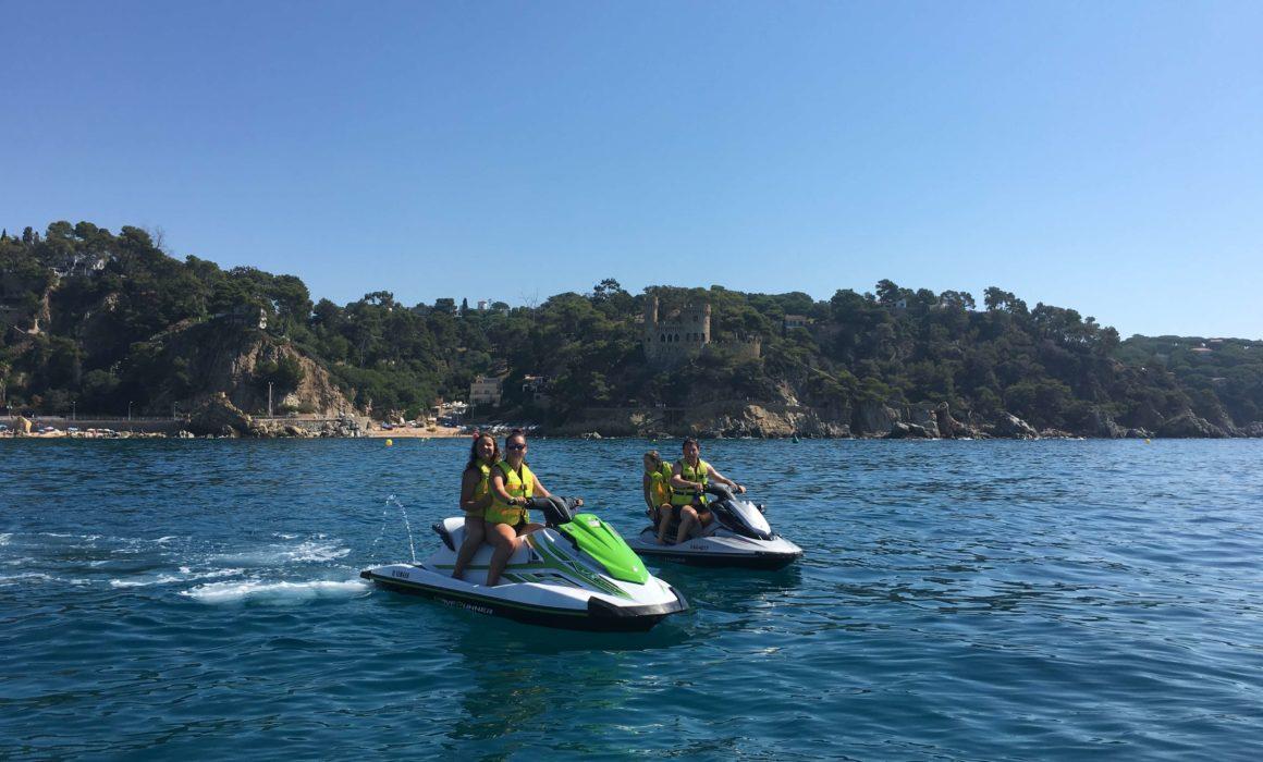 Excursion en moto de agua blanes - tossa